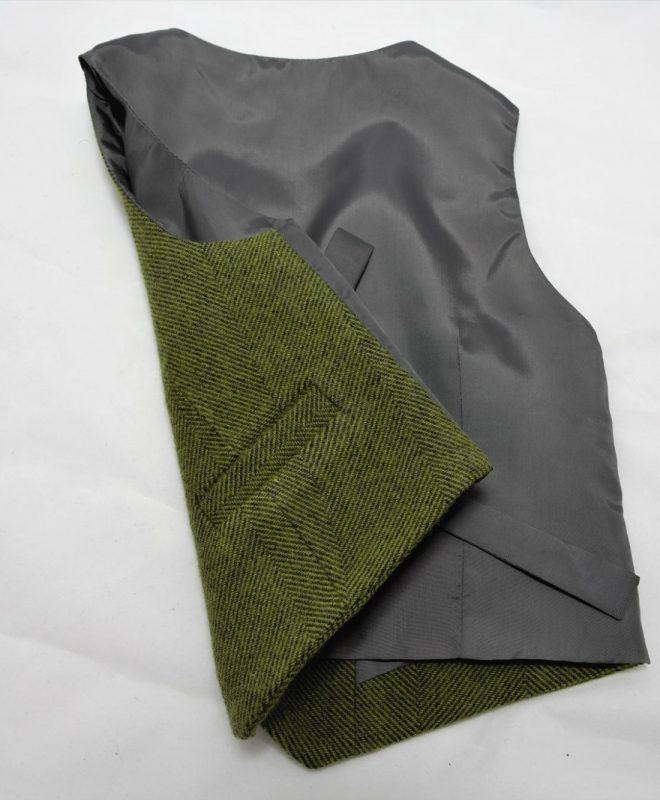 Boys palm green herringone Irish tweed waistcoat €69_opt (1)