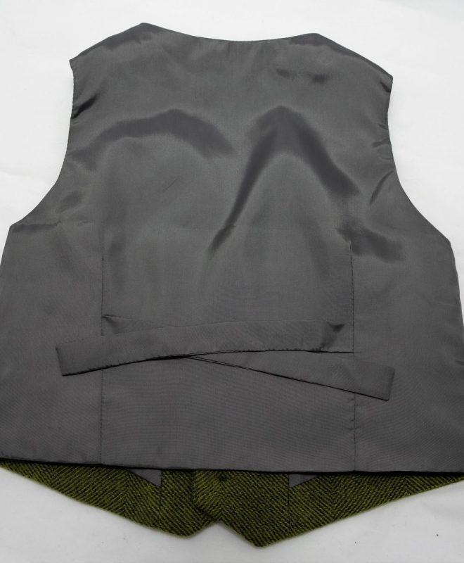 Boys palm green herringone Irish tweed waistcoat €69_opt (2)