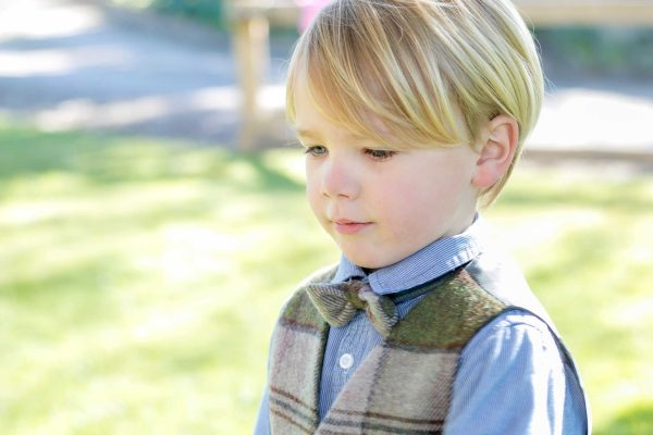 IMG 4070 Boys Irish Tweed Bow-Tie Autumn Plaid