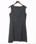 Ladies grey herringbone and raspberry tweed dress €139 Fully lined with back zip opening 100% Lambswool Size XS - XL BACK VIEW