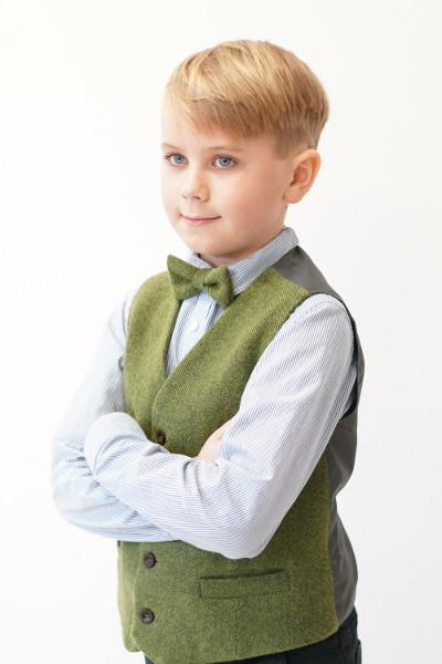 Love Mo Chuisle - Boys 1 green herringbone waistcoat €69.95