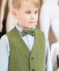 Love Mo Chuisle - Boys 2 green herringbone waistcoat €69.95