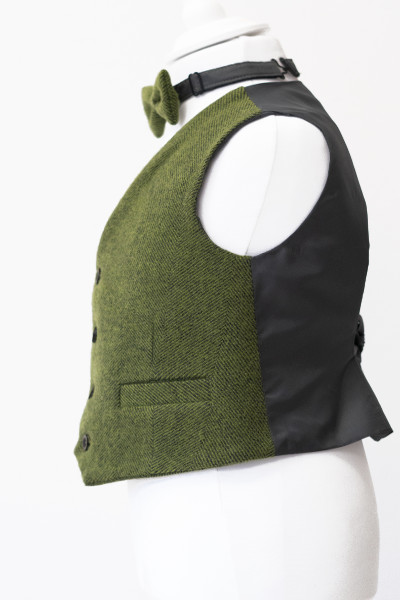 Love Mo Chuisle - Boys 3 Green herringbone waistcoat €69.95