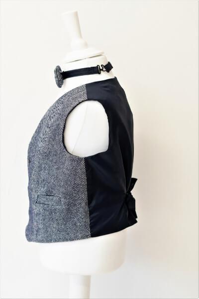 Love Mo Chuisle - Boys 5 Navy herringbone waistcoat €69.95