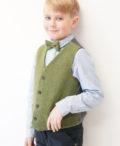 Love Mo Chuisle - Boys green herringbone waistcoat €69.95