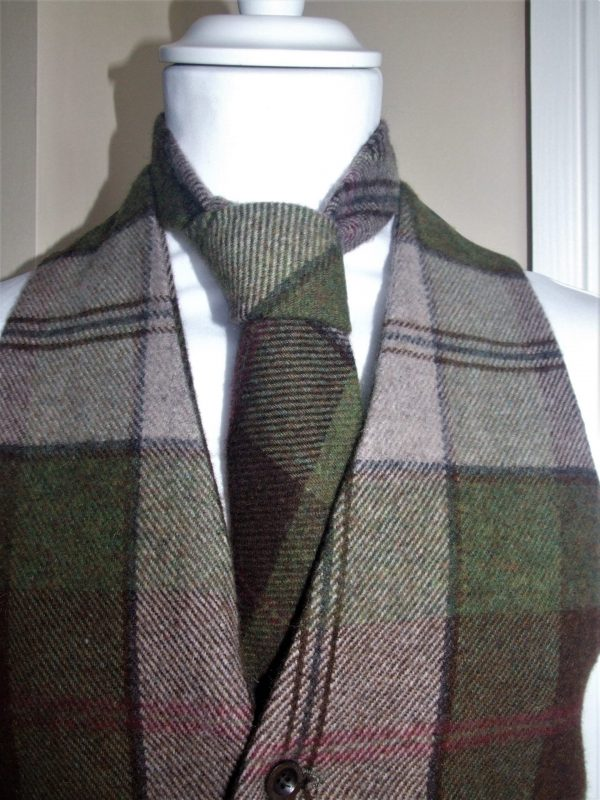 DSCF4039 2 scaled Mens Autumn Plaid Irish Tweed Tie