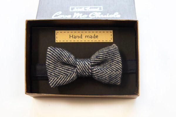Love Mo Chuisle Boys navy herringbone bow tie €27.95 Boys Irish Tweed Bow-Tie Navy Herringbone