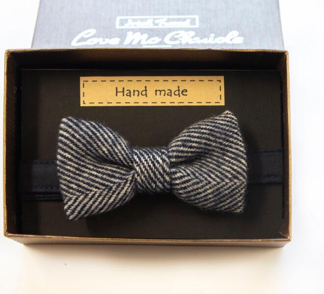 Love Mo Chuisle - Boys navy herringbone bow-tie €27.95