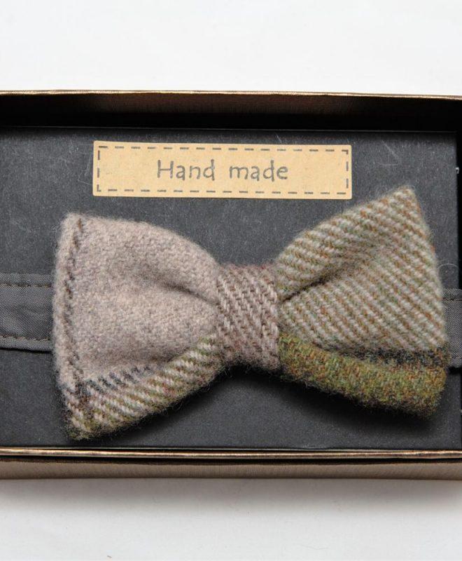 Mens autumn plaid Irish tweed bow-tie €39_opt