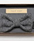 Mens grey herringbone Irish tweed bow-tie €39_opt