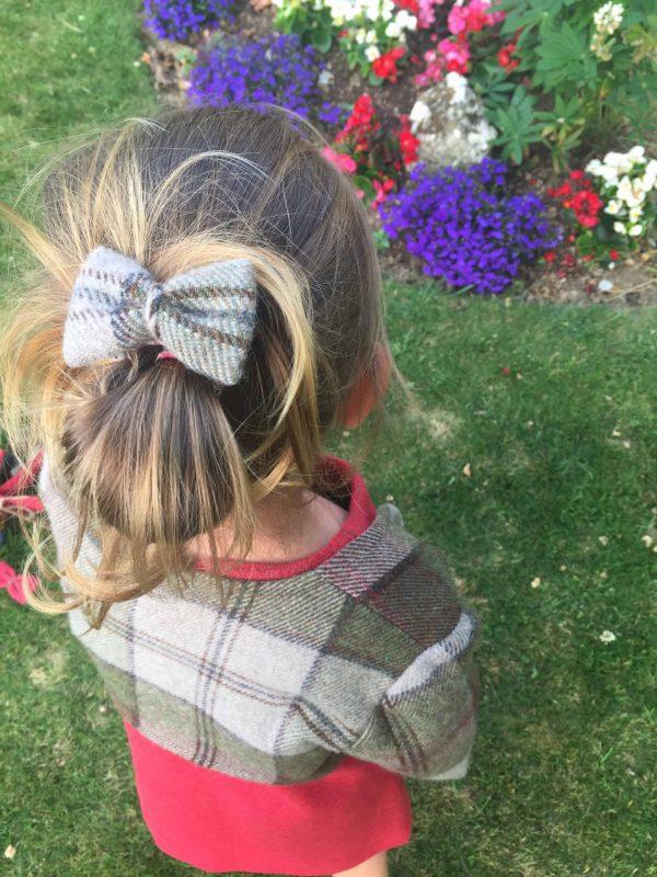Girls Irish tweed autumn plaid hair grips scaled Girls Irish Tweed Hair Grips Autumn Plaid