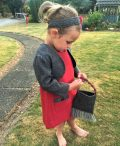 Girls Irish tweed bolero grey herringbone