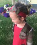 Girls irish tweed hairband raspberry and autumn plaid (2)