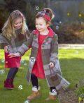 Girls Irish tweed autumn plaid Coat