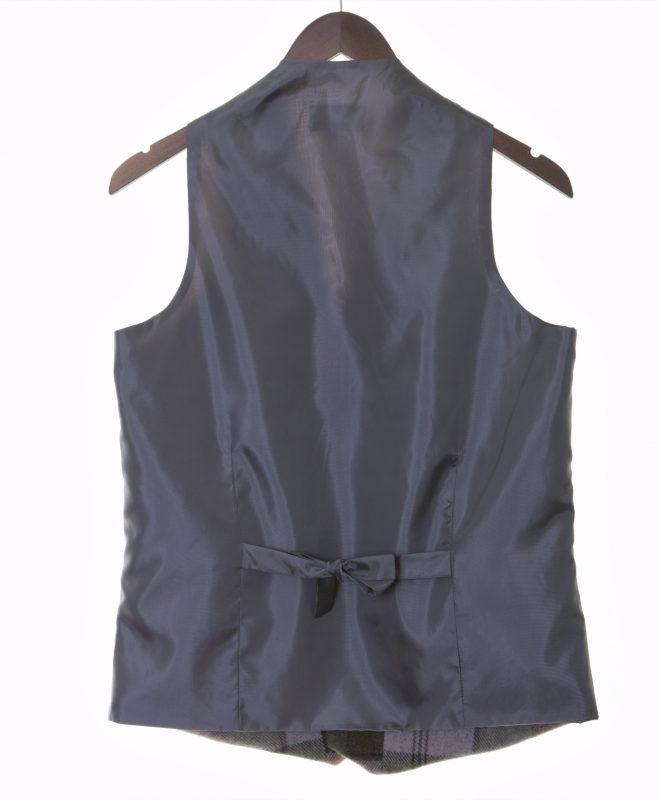 Mens autumn plaid Irish tweed waistcoats €129 100% Lambswool. Size XS - XXL BACK VIEW