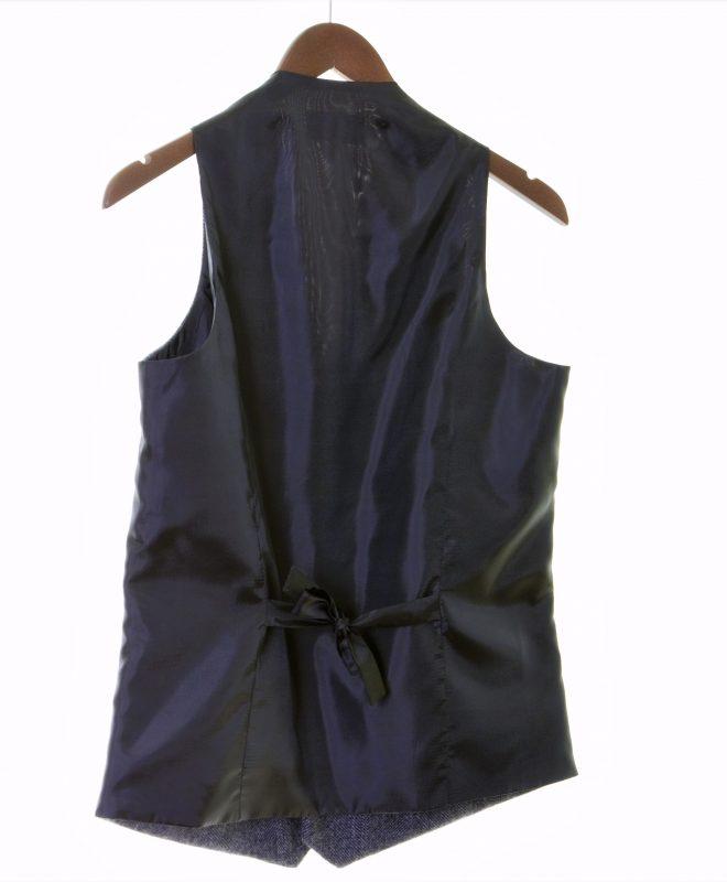 Mens gren herringbone Irish tweed waistcoats €129 100% Lambswool. Size XS - XXL BACK VIEW