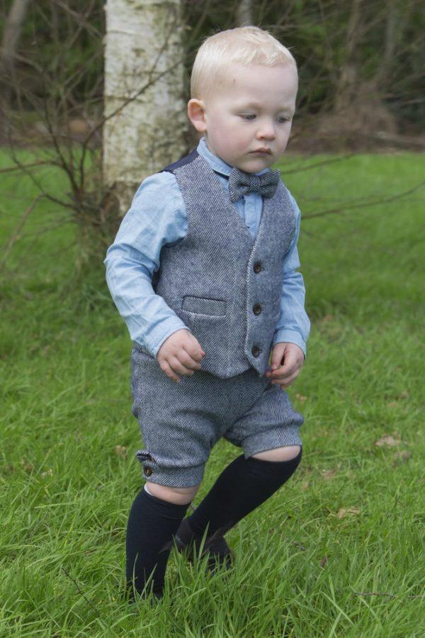 1DX 0595 Boys Waistcoat, Shorts and Bow-tie Set