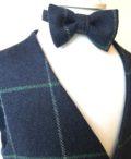 boys navy tweed waistcoat