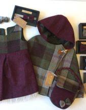 Maroon Tweed cape