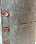 Boys blue tweed waistcoat
