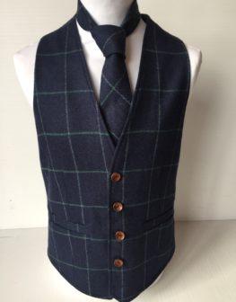 Navy tweed waistcoat