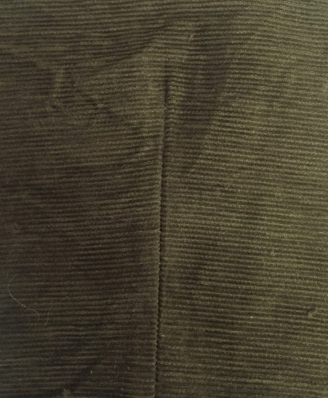 Tweed in the valley face mask khaki green corduroy