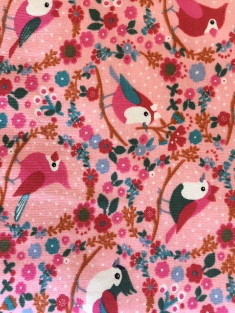 Face mask pink bird