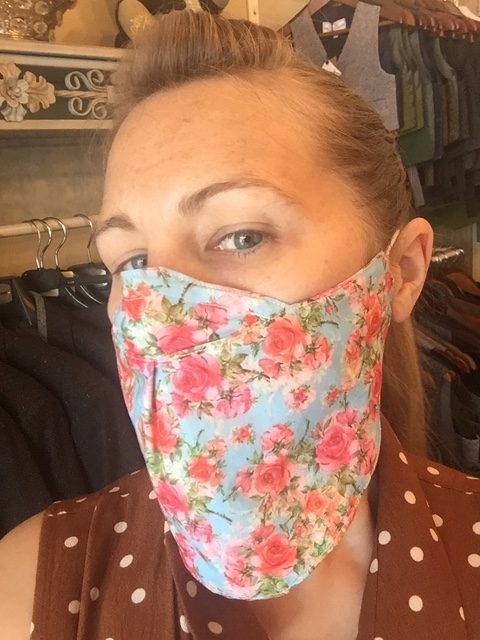 Face mask scarf floral 4