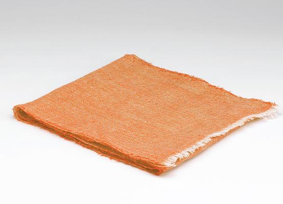 Tweed in the valley 100� linen scarf orange 100% Linen Scarf Orange