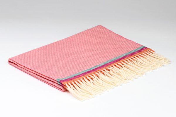 Tweed in the valley Lambswool baby blanket baby pink.jpeg Lambswool Baby Blanket Baby Pink