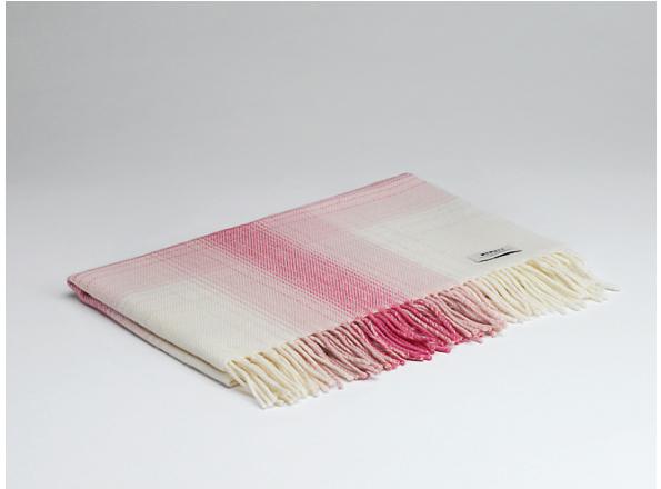 Tweed in the valley Lambswool baby blanket pink.jpeg Lambswool Baby Blanket Pink