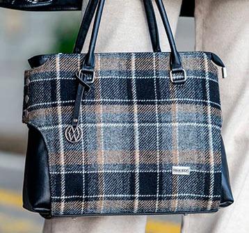 Tweed in the valley MucrosTweed grey plaid bag €98 Mucros Tweed Grey Plaid Bag