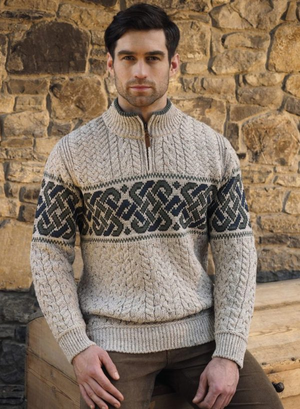 Tweed in the valley aran craft celticc half zip sweater Aran Craft Celtic Half Zip Sweater
