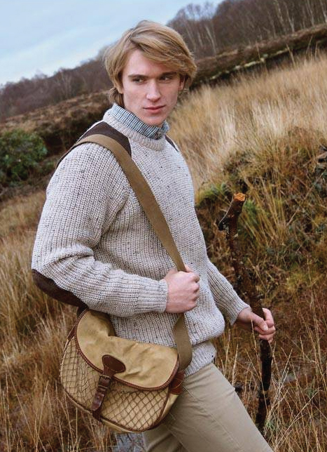 Tweed in the valley aran craft fishermans rib sweater Aran Craft Fishermans Rib Sweater