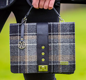 Tweed in the valley fiona bag grey plaid €79 Fiona Bag Grey Plaid