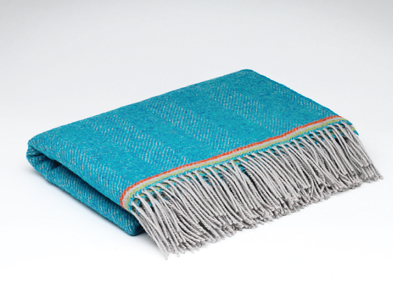 Tweed in the valley large pure wool baby blanket blue Large Pure Wool Baby Blanket Blue