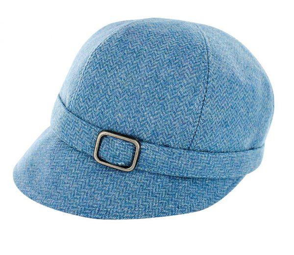 Tweed in the valley mucros tweed flapper hat blue herringbone €59 Mucros Tweed Flapper Hat Blue Herringbone