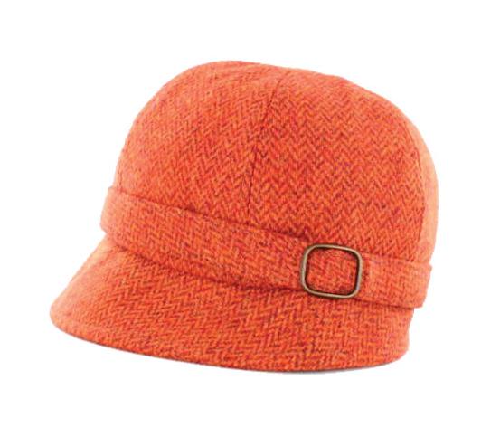 Tweed in the valley mucros tweed flapper hat rust herringbone €59 Mucros Tweed Flapper Hat Rust Herringbone
