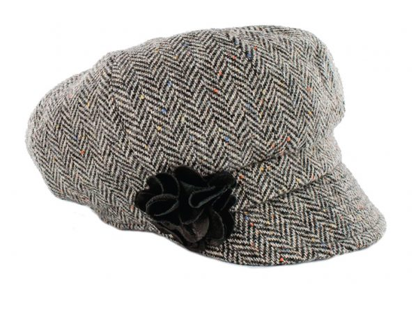 Tweed in the valley mucros tweed hat black speckle €59 Mucros Tweed Hat Black Speckle