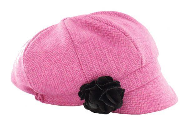 Tweed in the valley mucros tweed hat pink herringbone €59 Mucros Tweed Hat Pink Herringbone