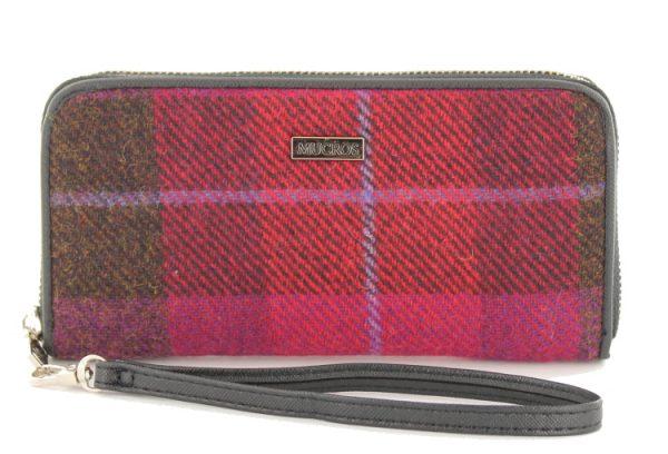 Tweed in the valley mucros tweed purse pink plaid €39 Mucros Tweed Purse Pink Plaid