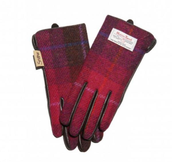Tweed in the Valley 1 Fuchsia Tartan Harris Tweed size Medium Large€39 Fuchsia Tartan Harris Tweed Gloves