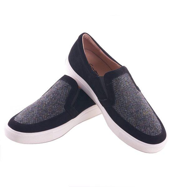 Tweed in the valley 1 Mens shoe Grey herringbone size 1011 €95 Men's Shoe Grey tweed herringbone