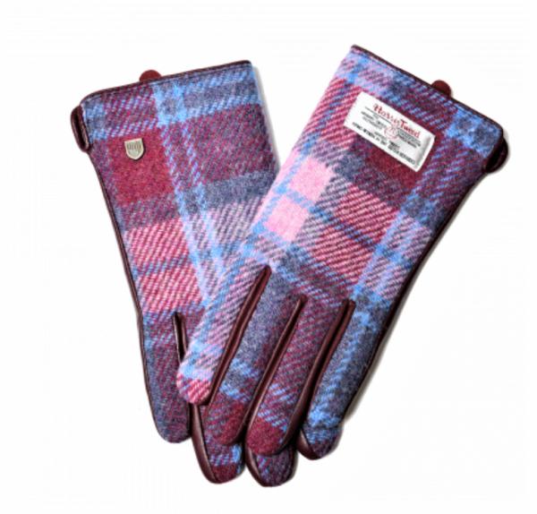 Tweed in the valley 1 Pink Tartan Harris Tweed Gloves size Medium Large€39 Pink Tartan Harris Tweed Gloves size - Medium, Large