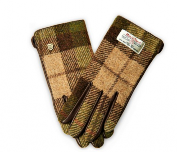 Tweed in the valley 1 green plaid glove size Medium Large€39 Green Plaid Gloves
