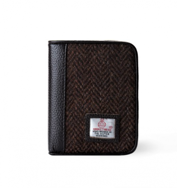 Tweed in the valley 2 Mens brown Herringbone Harris Tweed Wallet €45 Men's Brown Herringbone Harris Tweed Wallet