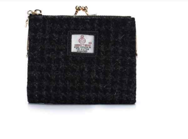 Tweed in the valley 2 dogtooth black Clasp Purse BAGS ACCESSORIES Snow Paw €39 Dogtooth Black Clasp Purse