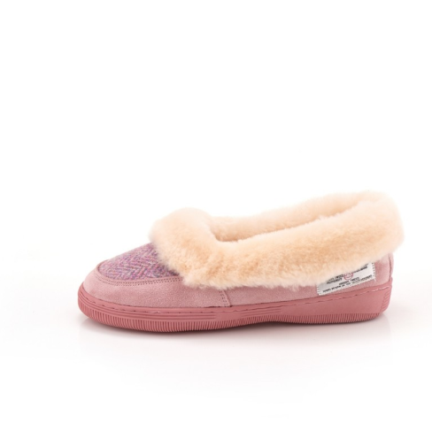 Tweed in the valley 2 pink Ladies slipper €69 sizes 4 5 Pink Ladies Slipper