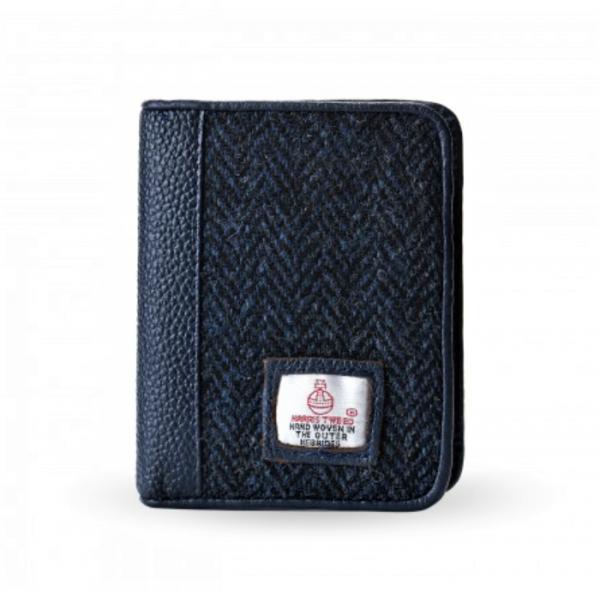 Tweed in the valley Mens Navy Herringbone Harris Tweed Wallet €45 Men's Navy Herringbone Harris Tweed Wallet