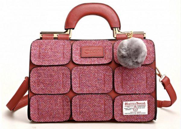 Tweed in the valley Snow paw maroon tweed bag €89 Maroon Tweed Bag